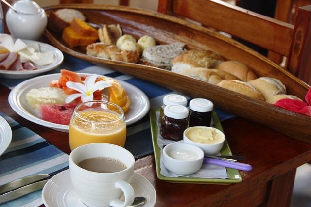 O charme do café da manhã da Praiagogi