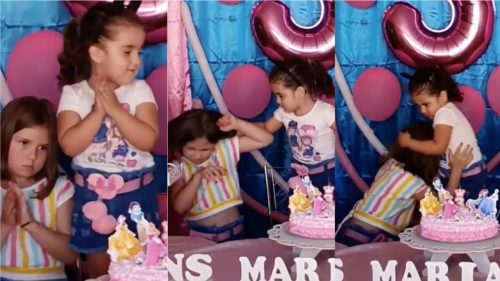 Vídeo de irmãs brigando em festa de aniversário viraliza e gera torcidas na web