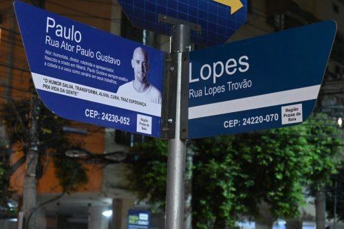 Prefeitura de Niterói troca nome de rua em homenagem ao ator Paulo Gustavo